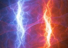 Fire and ice lightning Stock Photos