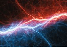 Fire and ice lightning plasma background. Electrical abstract Royalty Free Stock Image
