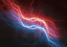 Fire and ice lightning plasma background. Electrical abstract Royalty Free Stock Photography