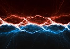 Fire and ice plasma power. Electrical lightng bolt Stock Image