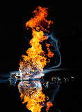 Fire and ice Royalty Free Stock Photography