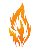 Fire icon. On a white background, vector illustration Royalty Free Stock Photography