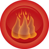 Fire Icon. That is uselful in design Stock Images