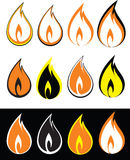 Fire-icon. Fire icon vector flame illustration Stock Image