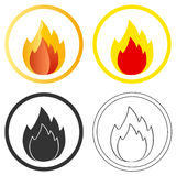 Fire. Icon of fire, campfire. Flat design royalty free illustration