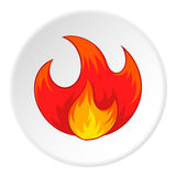 Fire icon, cartoon style Royalty Free Stock Photo