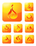 Fire icon collection Stock Images