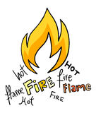 Fire icon. Creative design of fire icon Stock Photography
