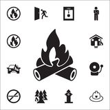 Fire icon. Detailed set of fire guard icons. Premium quality graphic design sign. One of the collection icons for websites, web de. Sign, mobile app on white Stock Images