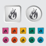 Fire icon. Elements Vector illustration Royalty Free Stock Images