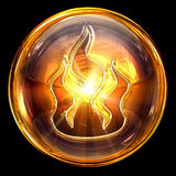 Fire icon fire. Stock Photo