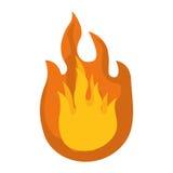 Fire icon. Flame design. Vector graphic Royalty Free Stock Photos