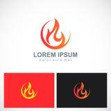 Fire icon flame logo Stock Photos