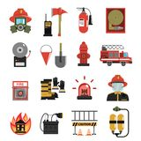 Fire Icon Flat Stock Photos