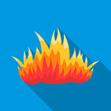 Fire icon flat. Single silhouette fire equipment icon from the big fire Department flat - stock vecto - stock vecto - Stock Images