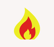 Fire icon illustrated. On a white background Royalty Free Stock Photo