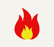Fire icon illustrated. On a white background Stock Image
