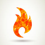 Fire Icon. Illustration of an Abstract fire icon Stock Photo