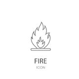 Fire icon JPEG. Danger concept. Royalty Free Stock Image