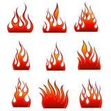 Fire icon set