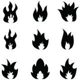 Fire icon set. The fire of icon set Royalty Free Stock Images