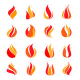 Fire icon set. Illustration Stock Photography