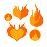 Fire. Icon Set Royalty Free Stock Image
