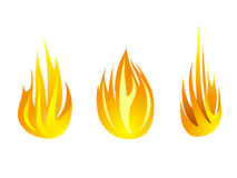 Fire icon set vector illustration design symbol collection Stock Images