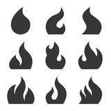 Fire Icon Set on White Background. Vector Royalty Free Stock Image