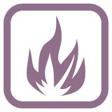 Fire icon. Simple icon royalty free illustration