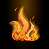 Fire icon Royalty Free Stock Image
