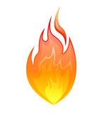 Fire icon - vector. Vector illustration of a glossy fire flame icon on a white background Royalty Free Stock Images