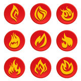 Fire icon vector set. Vector set of fire icon Royalty Free Stock Image