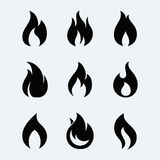 Fire icon vector set Royalty Free Stock Images