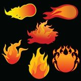 Fire icon set in many kind. Fire icon that you can use in many purposes. e.g: sticker, logo, icon, etc. thank Royalty Free Stock Photo