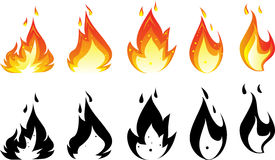 Fire icon for you design. Illustration of fire icon for you design Stock Photography