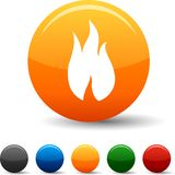 Fire icons. Stock Photo