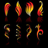 Fire icons. Collection original. Vector illustration Stock Images