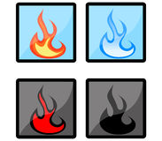 Fire Icons Stock Photos