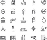 Fire icons Royalty Free Stock Photos