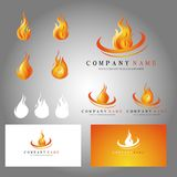 Fire icons and bussiness cards. Fire icons design and bussiness cards Royalty Free Stock Photo