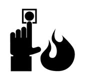 Fire icons design. Fire icons  design , vector illustration Royalty Free Stock Photo