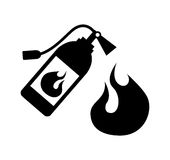 Fire icons design Stock Photography