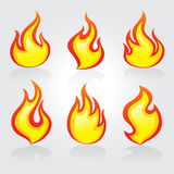 Fire icons. Fire icon Vector for web Royalty Free Stock Photos