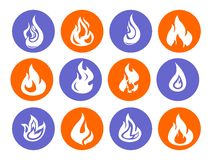 The fire icons Royalty Free Stock Image