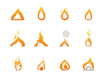 Fire icons. Illustration of fire icons vector Royalty Free Stock Images