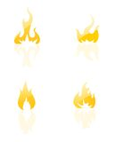 Fire Icons set. On white Stock Image