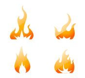 Fire Icons set. On white Stock Images