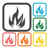 Fire icons set. Vector icon Stock Image