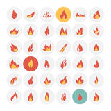 Fire icons set. Stock Image